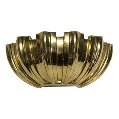 NYC Waldorf Astoria Hotel Large Brass Shell Sconce Mid-Century Modern Quantity