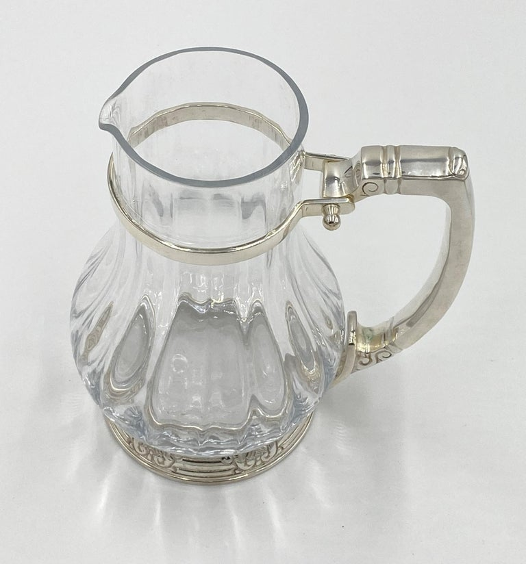 American NYC Waldorf Astoria Hotel Silver Plated Water Pitcher Art Deco Style For Sale