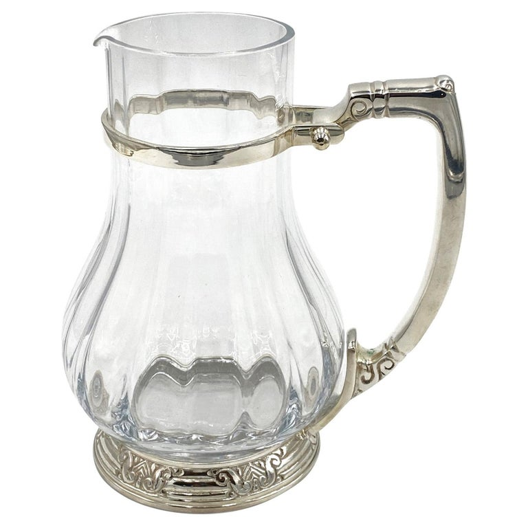 NYC Waldorf Astoria Hotel Silver Plated Water Pitcher Art Deco Style For Sale