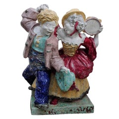 Nympfenburg Porcelain Sculpture Dancing Couple by Josef Wackerle
