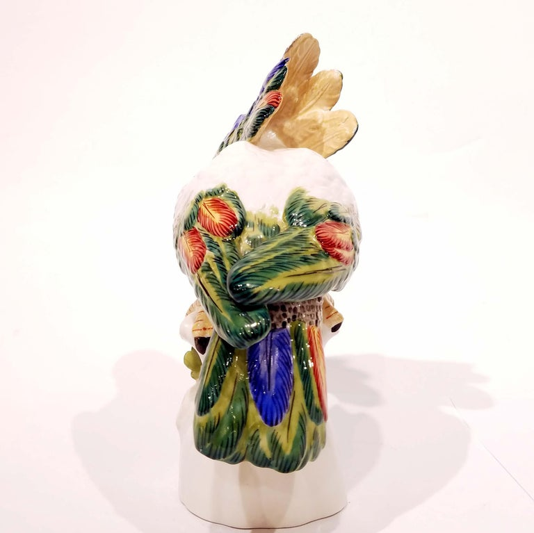 German Nymphenburg Porcelain Cockatoo For Sale