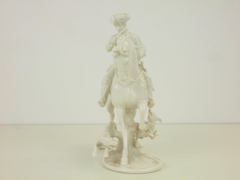 Nymphenburg Porcelain Figurine Depicting a Horse Rider in a Hunting Scene For Sale 2
