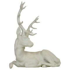 Nymphenburg Porcelain Figurine Depicting a Red Deer