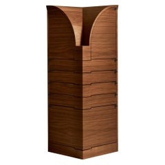 Nyn Corner Cabinet in Walnut by Chi Wing Lo