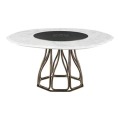 Nyos Dining Table with Marble Top by Roberto Cavalli Home Interiors