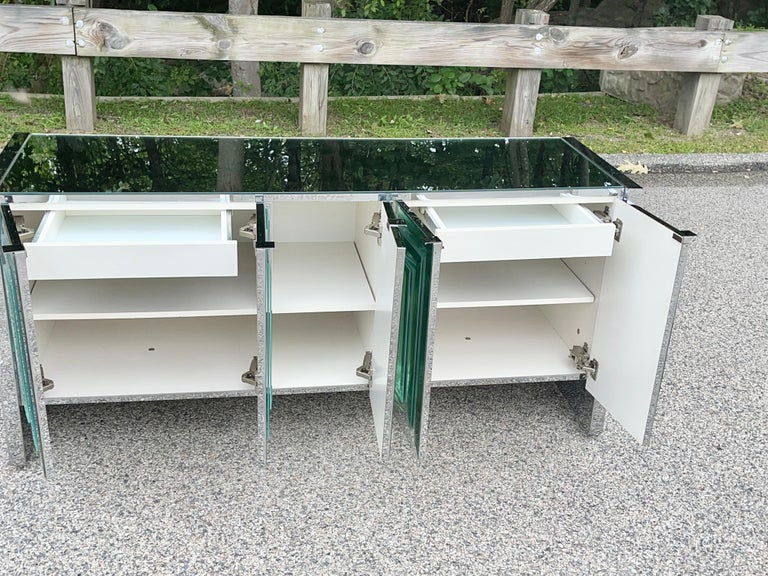 O. B. Solie for Ello Mirrored Five Door Sideboard For Sale 5