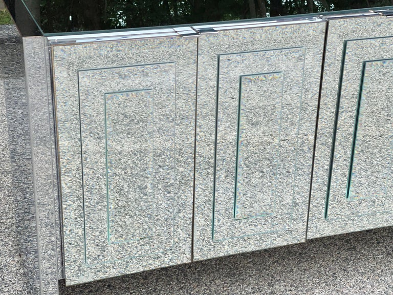 O. B. Solie for Ello Mirrored Five Door Sideboard For Sale 8