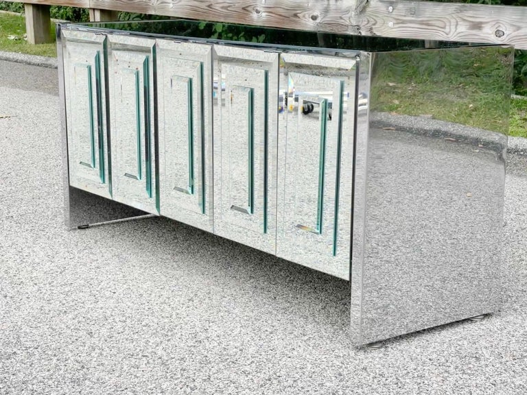 O. B. Solie for Ello Mirrored Five Door Sideboard For Sale 11