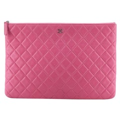 O Case Clutch Quilted Lambskin Large