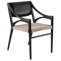 O Chair in Rattan and Walnut for Dining and Desk by ATRA