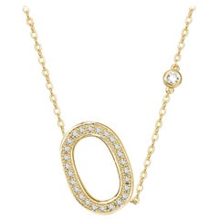 O-Initial Bezel Chain Necklace