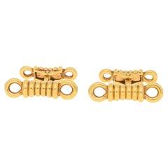 O. J. Perrin Rope Cufflinks Set in 18k Yellow Gold