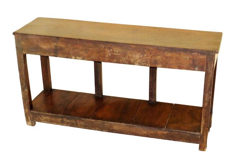 Oak 18th Century English Antique Dresser Base Sideboard For Sale 2