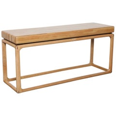 Oak 1970s American Made Rectangular Console Table