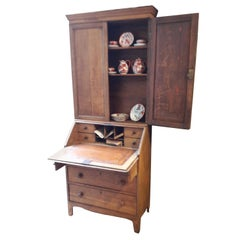 Oak 19th Century Secretaire Bookcase