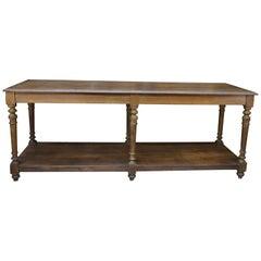 Oak 6 Feet Draper's Table, circa 1900