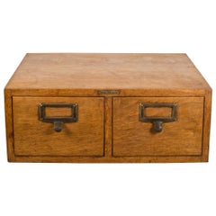 Oak and Brass Globe Wernicke Card Catalog, circa 1940