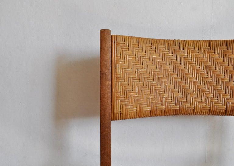 Oak and Cane Dining Chair by Peter Hvidt & Orla Mølgaard-Nielsen For Sale 4