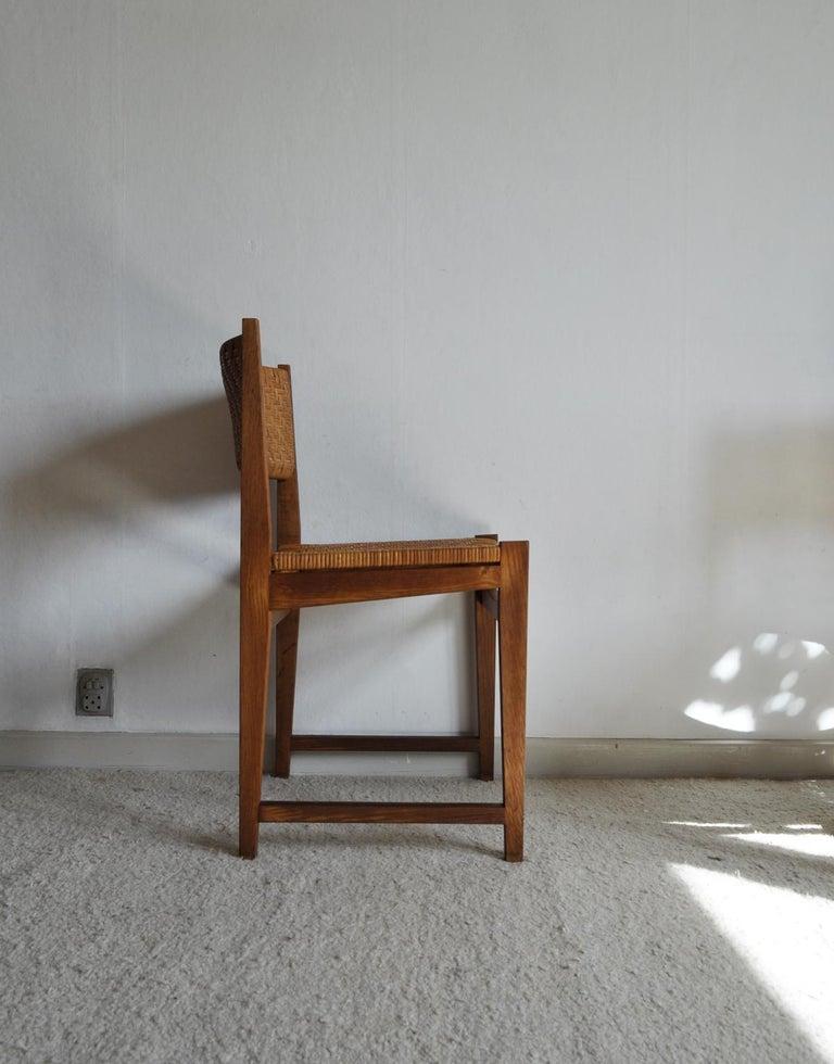 Oak and Cane Dining Chair by Peter Hvidt & Orla Mølgaard-Nielsen For Sale 5
