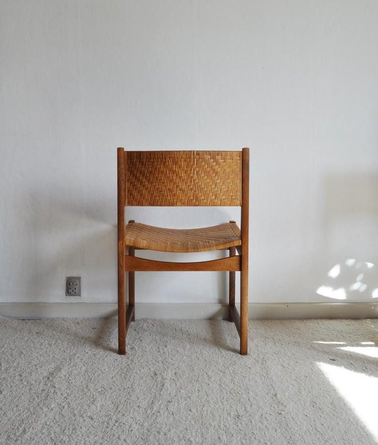 Oak and Cane Dining Chair by Peter Hvidt & Orla Mølgaard-Nielsen For Sale 6