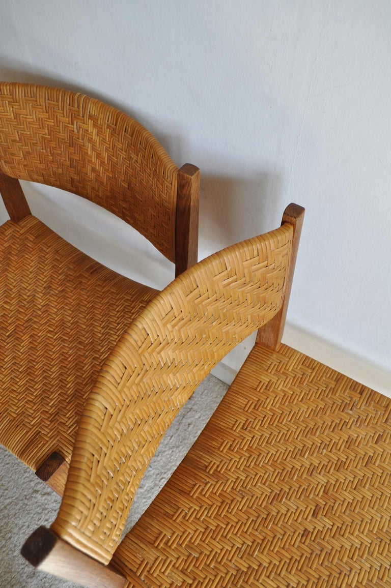 Mid-20th Century Oak and Cane Dining Chair by Peter Hvidt & Orla Mølgaard-Nielsen For Sale