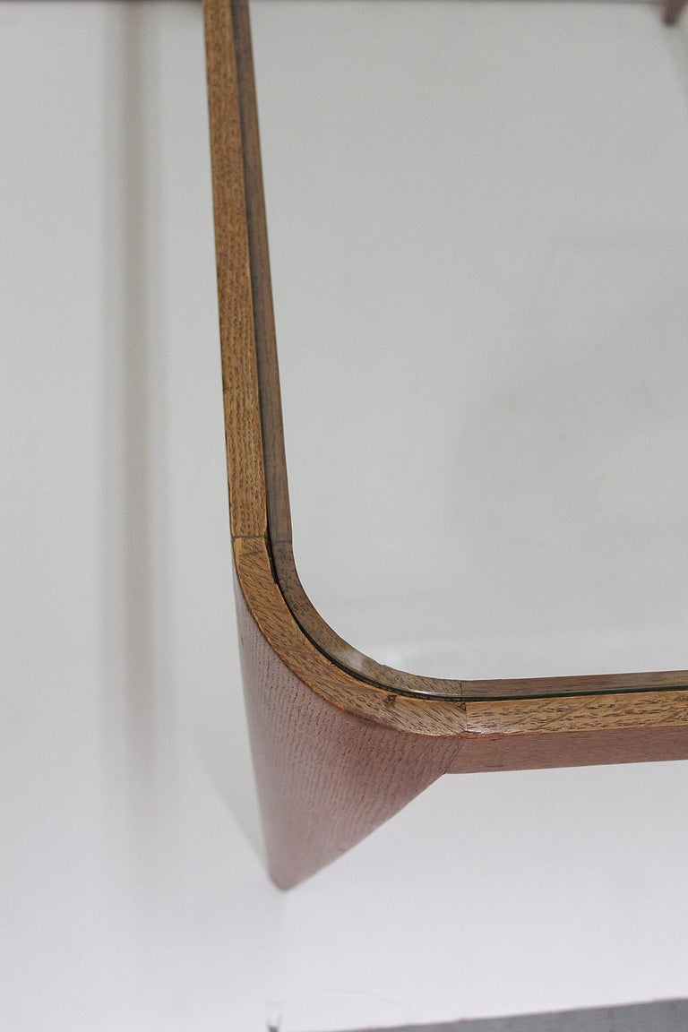 Oak and Glass Coffee Table by Gio Ponti, Italy 1940 For Sale 7