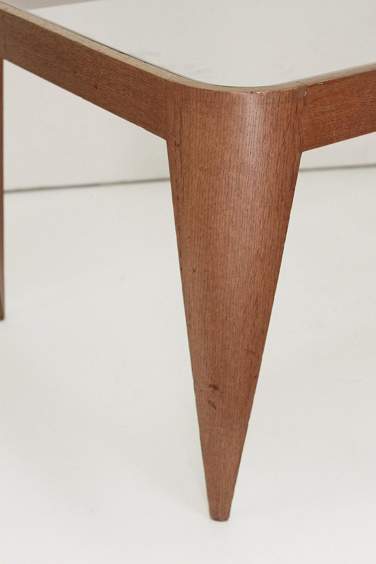 Oak and Glass Coffee Table by Gio Ponti, Italy 1940 For Sale 2