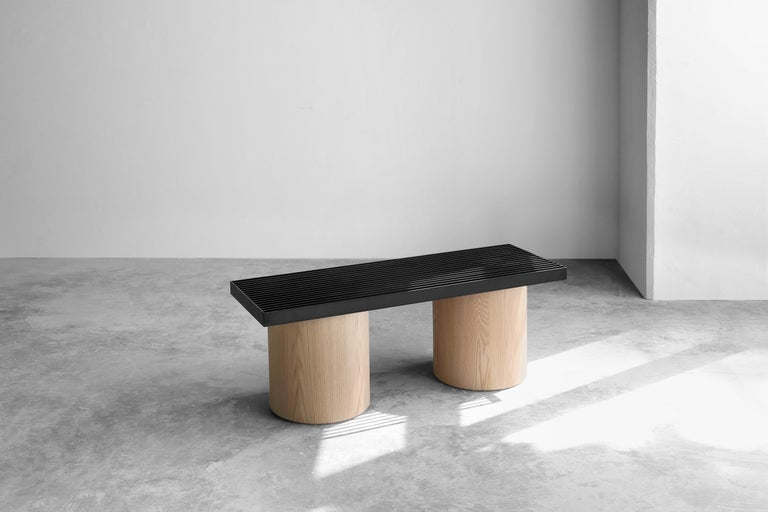 Movement Bench, part of Laws of Motion collection designed by Joel Escalona, explore reality and perception, and how these change as we move. Objects that at a distance we judge as strong or resistant, little by little they reveal the delicacy of
