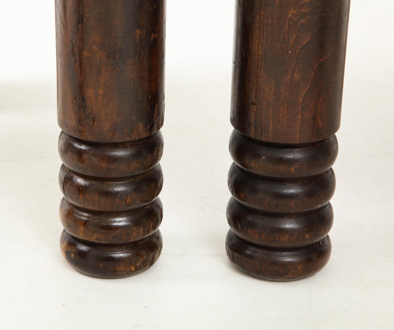 Oak and Rush Stool by Charles Dudouyt, France, circa 1930s 4