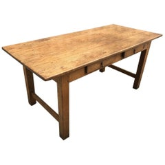 Oak Antique Two-Drawer Desk