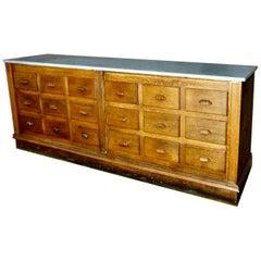 Oak Apothecary Cabinet, circa 1900