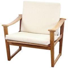 Mid century Danish design Armchair in Solid Oak by M. Nissen for Pastoe, 1960's