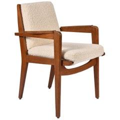 Oak Armchair by Pierre Guariche, Model FS 106
