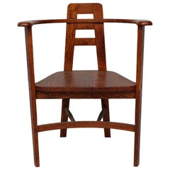 Oak Armchair in the Style of Mackintosh