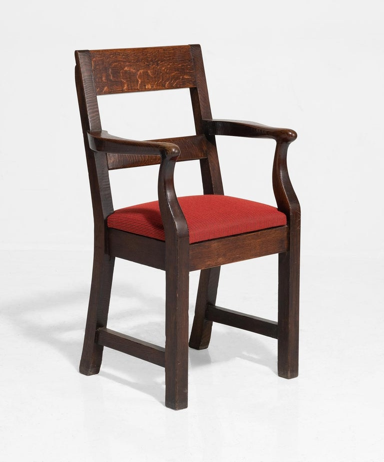 Oak Armchairs by William Birch, England, circa 1890 In Good Condition For Sale In Culver City, CA