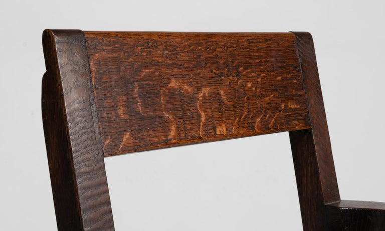 19th Century Oak Armchairs by William Birch, England, circa 1890 For Sale
