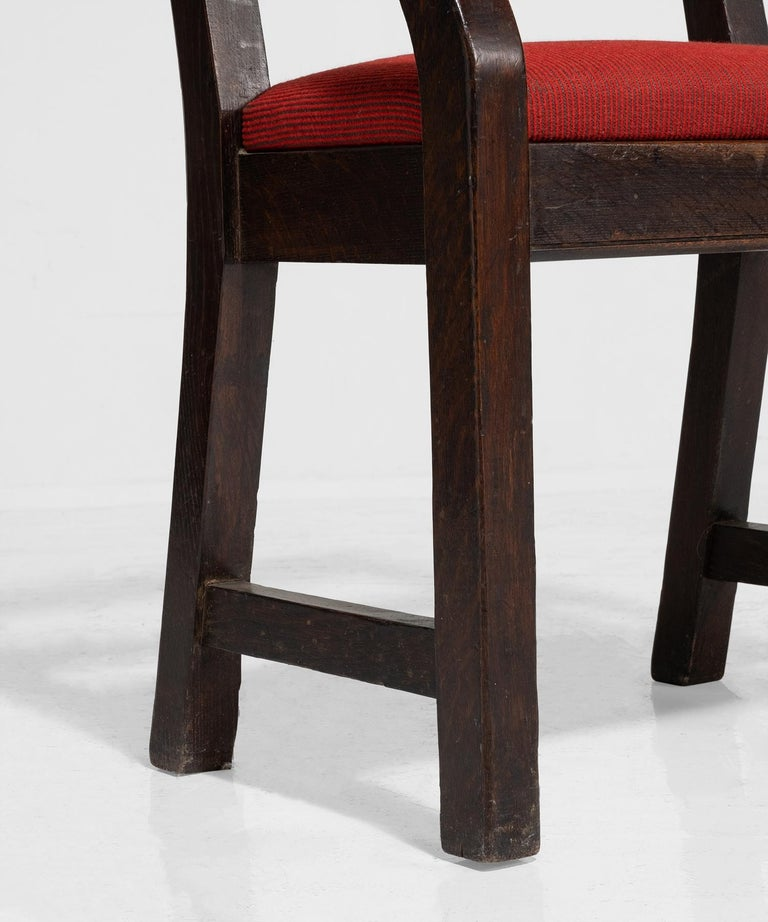 Oak Armchairs by William Birch, England, circa 1890 For Sale 3
