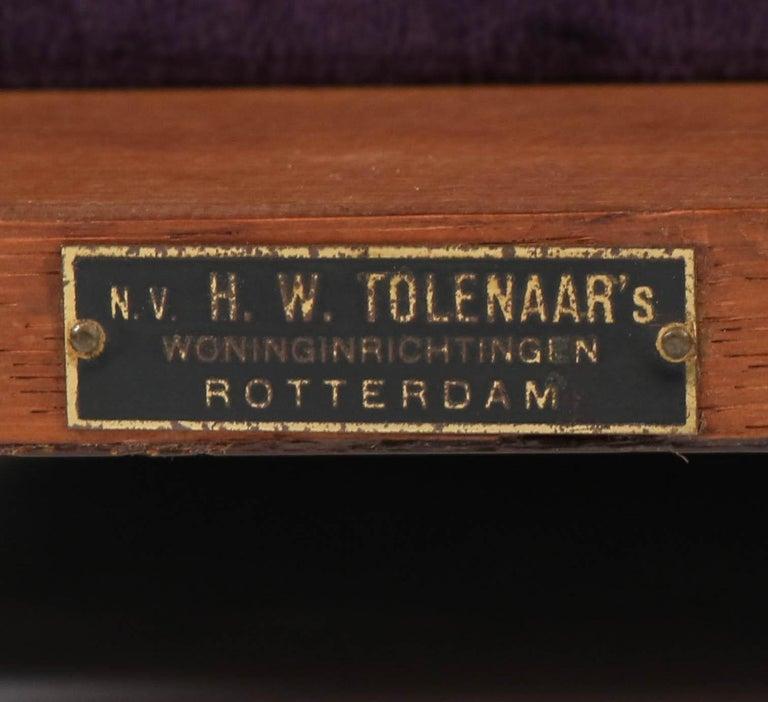 Oak Art Deco Amsterdam School Armchair by H.W. Tolenaar Rotterdam, 1920s For Sale 13