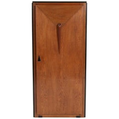 Oak Art Deco Amsterdam School Armoire or Wardrobe, 1920s
