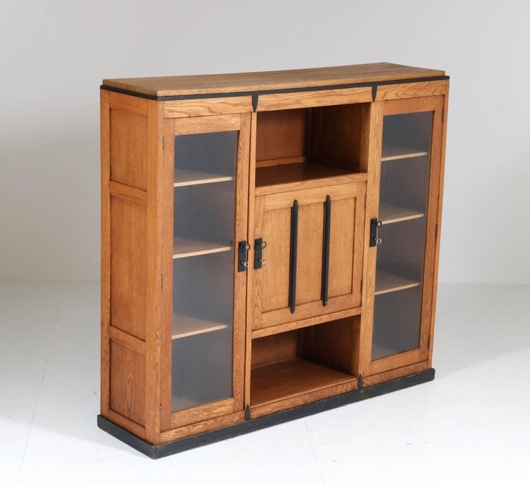 Oak Art Deco Amsterdam School Bookcase, 1920s For Sale 2