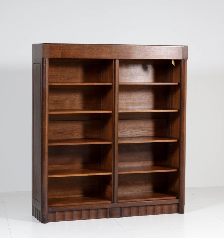 Early 20th Century Oak Art Deco Amsterdam School Bookcase by Hildo Krop for Gebr. Monsieur, 1920s For Sale