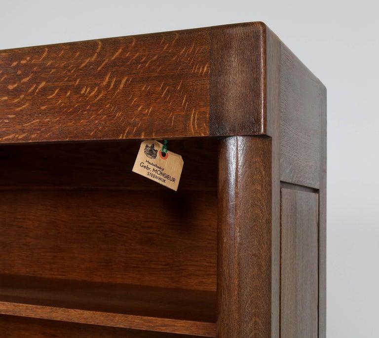Oak Art Deco Amsterdam School Bookcase by Hildo Krop for Gebr. Monsieur, 1920s For Sale 1