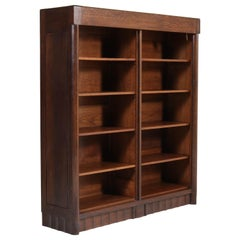 Oak Art Deco Amsterdam School Bookcase by Hildo Krop for Gebr. Monsieur, 1920s