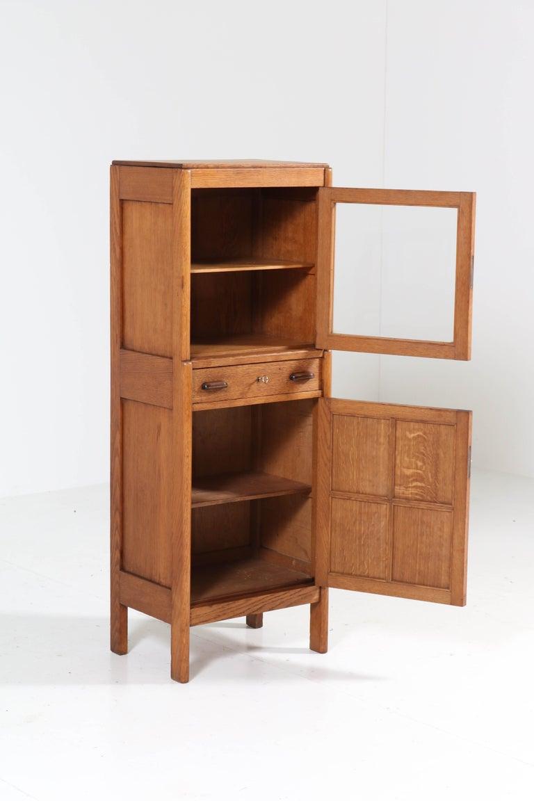 Early 20th Century Oak Art Deco Amsterdam School Cabinet, 1920s For Sale
