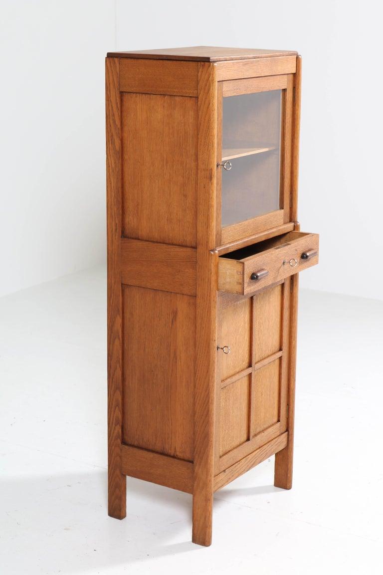 Macassar Oak Art Deco Amsterdam School Cabinet, 1920s For Sale