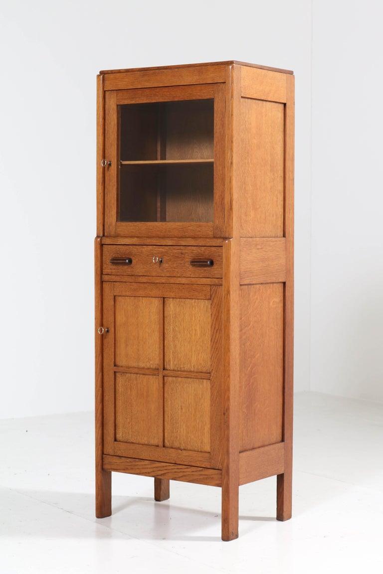 Oak Art Deco Amsterdam School Cabinet, 1920s For Sale 2