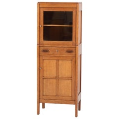 Oak Art Deco Amsterdam School Cabinet, 1920s