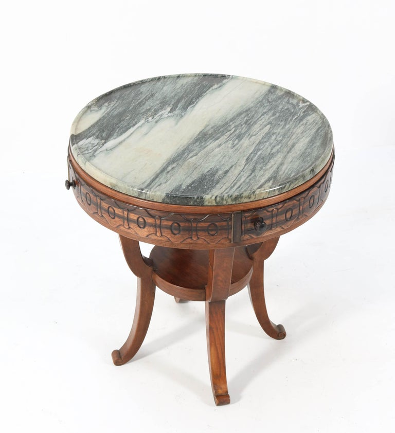 Oak Art Deco Amsterdam School Coffee Table by 't Woonhuys Amsterdam, 1920s For Sale 3