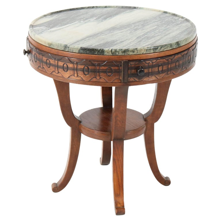 Oak Art Deco Amsterdam School Coffee Table by 't Woonhuys Amsterdam, 1920s For Sale