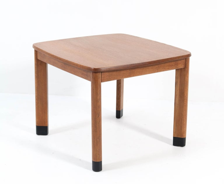 Early 20th Century Oak Art Deco Amsterdam School Coffee Table in the Style of Piet Kramer, 1920s For Sale